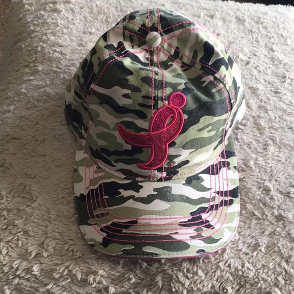 Accessories - NWOT Camo Breast Cancer Awareness Baseball Cap 9573b2e0c483